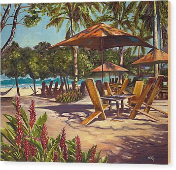 Lola's In Costa Rica Wood Print by Christie Michael