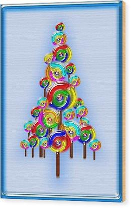 Lollipop Tree Wood Print