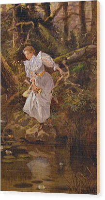 Lolly Wood Print by Charles Russell