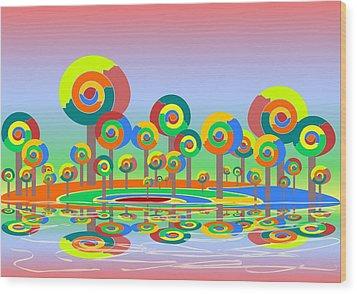 Lollypop Island Wood Print by Anastasiya Malakhova
