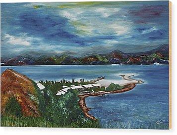 Loloata Island Wood Print