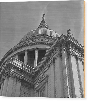 London St Pauls Cathedral Wood Print by Cheryl Miller