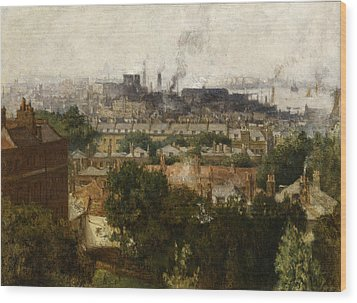 London And The Thames From Greenwich Wood Print by John Auld