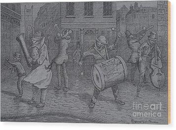 London Buskers 1853 Wood Print