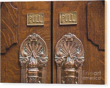 London Coliseum Doors 02 Wood Print