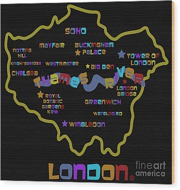 London Wood Print by Dan Hilsenrath