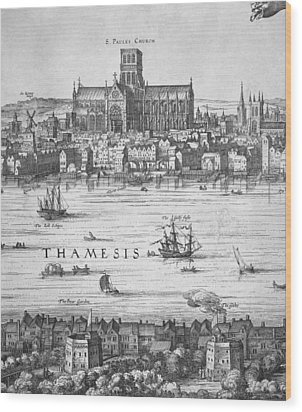 London During Elizabeth Is Reign 17th Wood Print by Everett