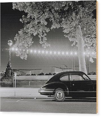 Porsche In London Wood Print by Shaun Higson
