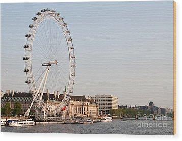 Wood Print featuring the photograph London Eye Day by Matt Malloy