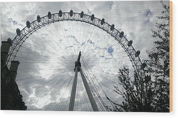 London Eye Wood Print by Eva Csilla Horvath