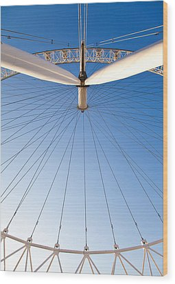 London Eye Geometry Wood Print by Adam Pender