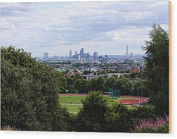 London From Parliament Hill Wood Print by Nicky Jameson