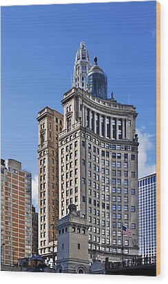 London Guarantee And Accident Building Chicago Wood Print by Christine Till