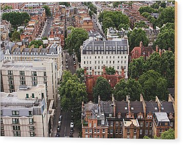 London Kensington Rooftops Wood Print by Nicky Jameson