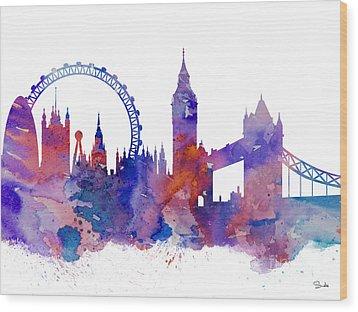 London Wood Print by Luke and Slavi
