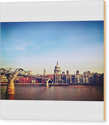 London Wood Print by Maeve O Connell