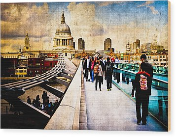 London Of My Dreams - St Paul's Wood Print by Mark E Tisdale