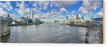 London Panorama Wood Print by Colin and Linda McKie