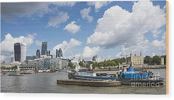 London Panoramic Wood Print by Donald Davis