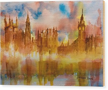 London Rising Wood Print