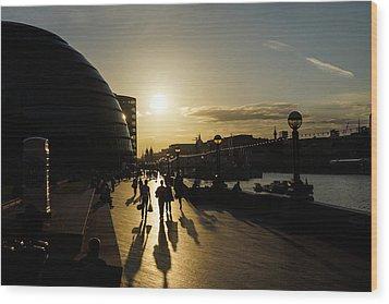 Wood Print featuring the photograph London Silhouettes  by Georgia Mizuleva