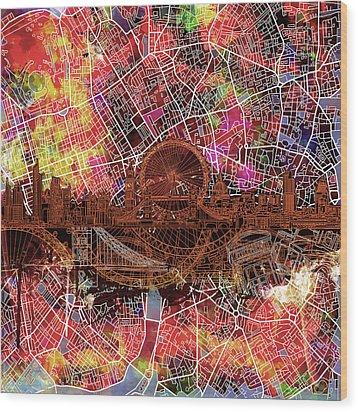 London Skyline Abstract 5 Wood Print