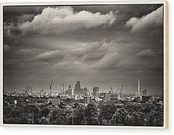 London Skyline From Hampstead Heath Wood Print