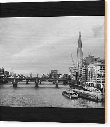 London Skyline Wood Print by Maeve O Connell
