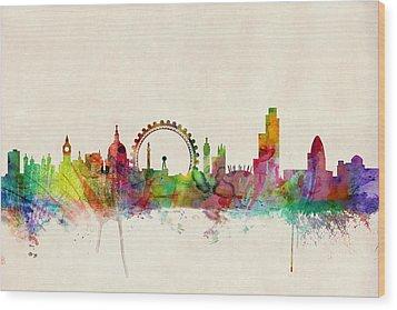 London Skyline Panoramic Wood Print