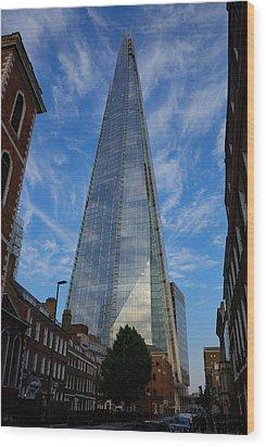 London The Shard Wood Print by Steven Richman