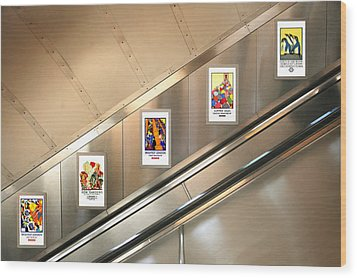 London Underground Poster Collection Wood Print by Mark Rogan