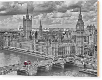 London Westminster Wood Print by Melanie Viola