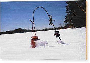 Lone Lantern Wood Print by Danielle  Broussard