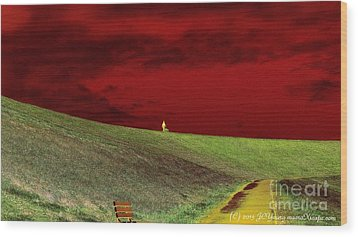 Lone Man And His Best Friend Wood Print by JCYoung MacroXscape