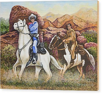 Lone Ranger And Tonto Ride Again Wood Print