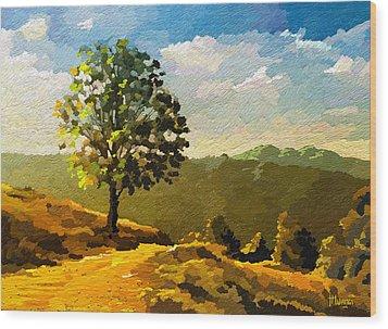 Lone Ranger Wood Print by Anthony Mwangi