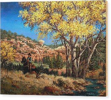 Lone Rider Wood Print by W  Scott Fenton