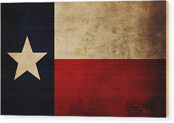Lone Star  Wood Print by Ryan Wyckoff