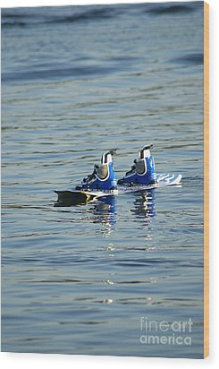 Lone Wakeboard Wood Print by DejaVu Designs