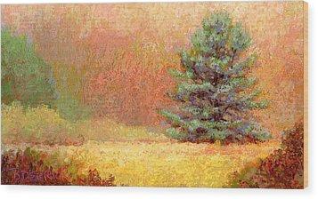 Lone White Pine II Wood Print