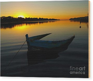 Wood Print featuring the photograph Lonely At Sunrise by Trena Mara