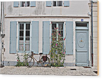 Wood Print featuring the photograph Lonely Bicycle... by Cendrine Marrouat
