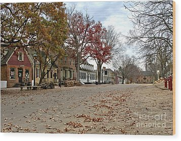 Lonely Colonial Williamsburg Wood Print