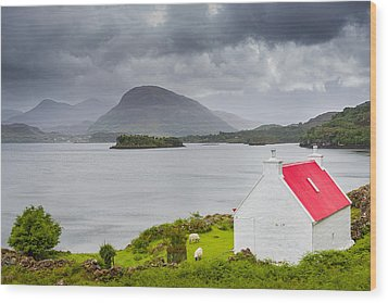 Wood Print featuring the photograph Lonely Cottage by Maciej Markiewicz