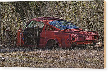 Wood Print featuring the photograph Lonely Fastback by Victor Montgomery