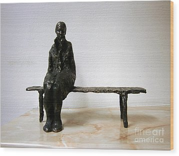 Lonely Girl Wood Print by Nikola Litchkov