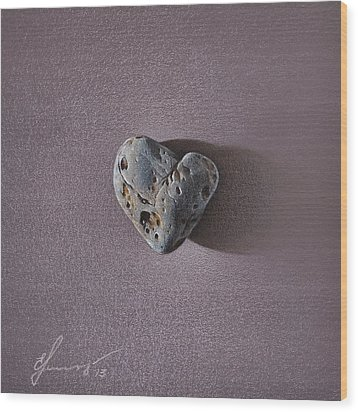 Lonely Heart Wood Print by Elena Kolotusha