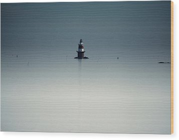 Lonely Lighthouse  Wood Print by Karol Livote
