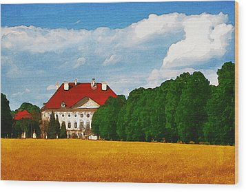 Lonely Mansion Wood Print by Inspirowl Design