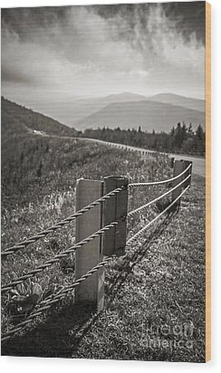 Lonely Mountain Road Wood Print by Edward Fielding